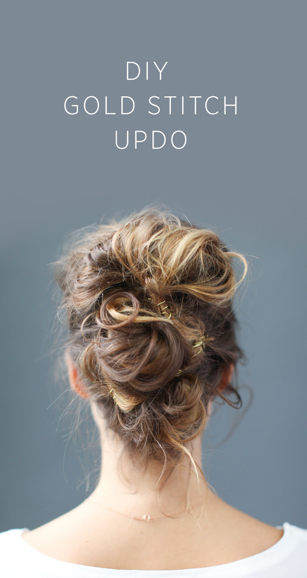 Best ideas about DIY Wedding Updo . Save or Pin DIY Gold Stitch Updo DIY Weddings Now.