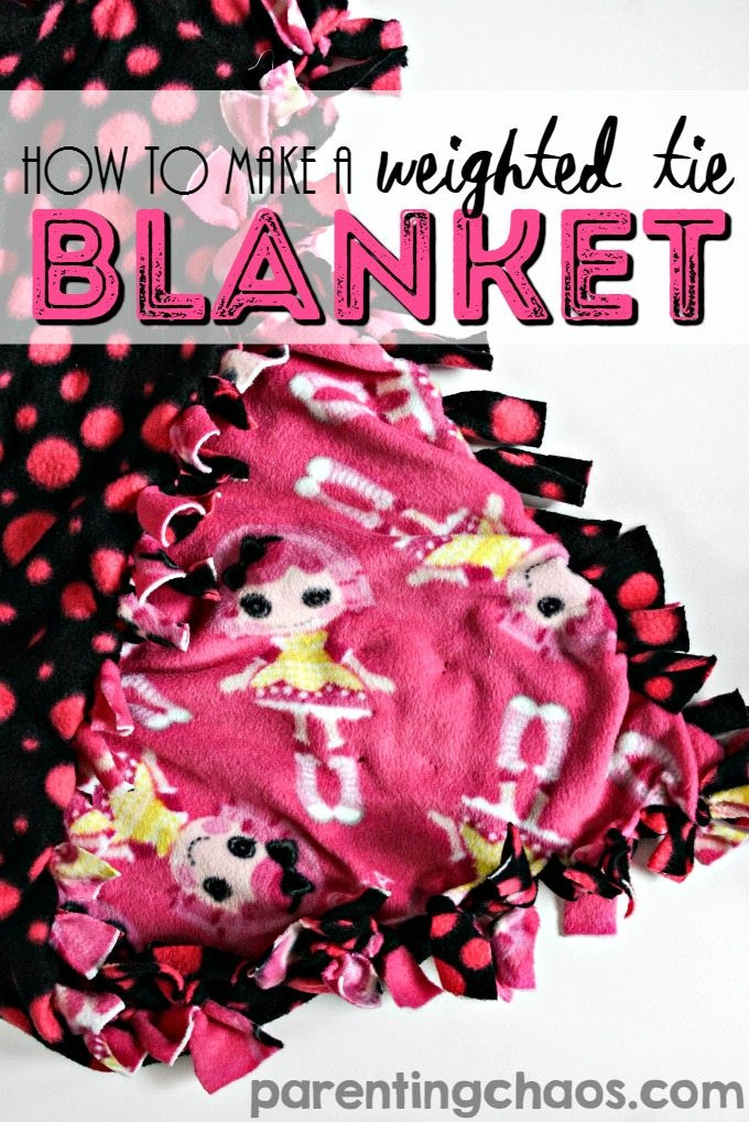 Best ideas about DIY Weighted Blanket Kit . Save or Pin How to Make a Weighted Tie Blanket Now.