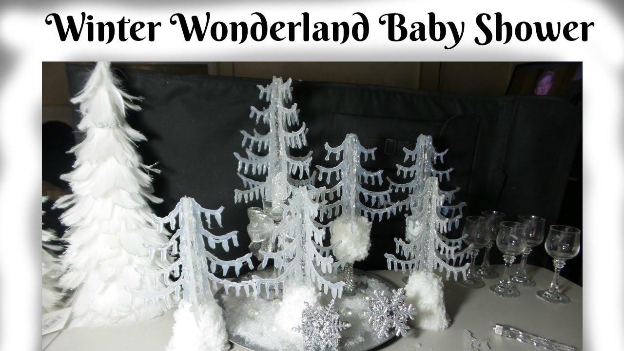 Best ideas about DIY Winter Wonderland Baby Shower Decorations . Save or Pin DIY Dollar Tree CENTERPIECES WINTER WONDERLAND for baby Now.