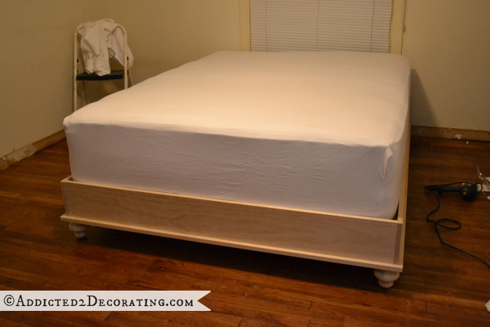 Best ideas about DIY Wood Beds . Save or Pin DIY Stained Wood Raised Platform Bed Frame – Part 2 Now.