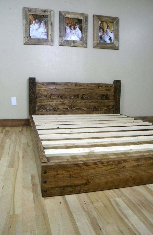Best ideas about DIY Wood Beds . Save or Pin DIY bed frame – creative ideas for original bedroom furniture Now.