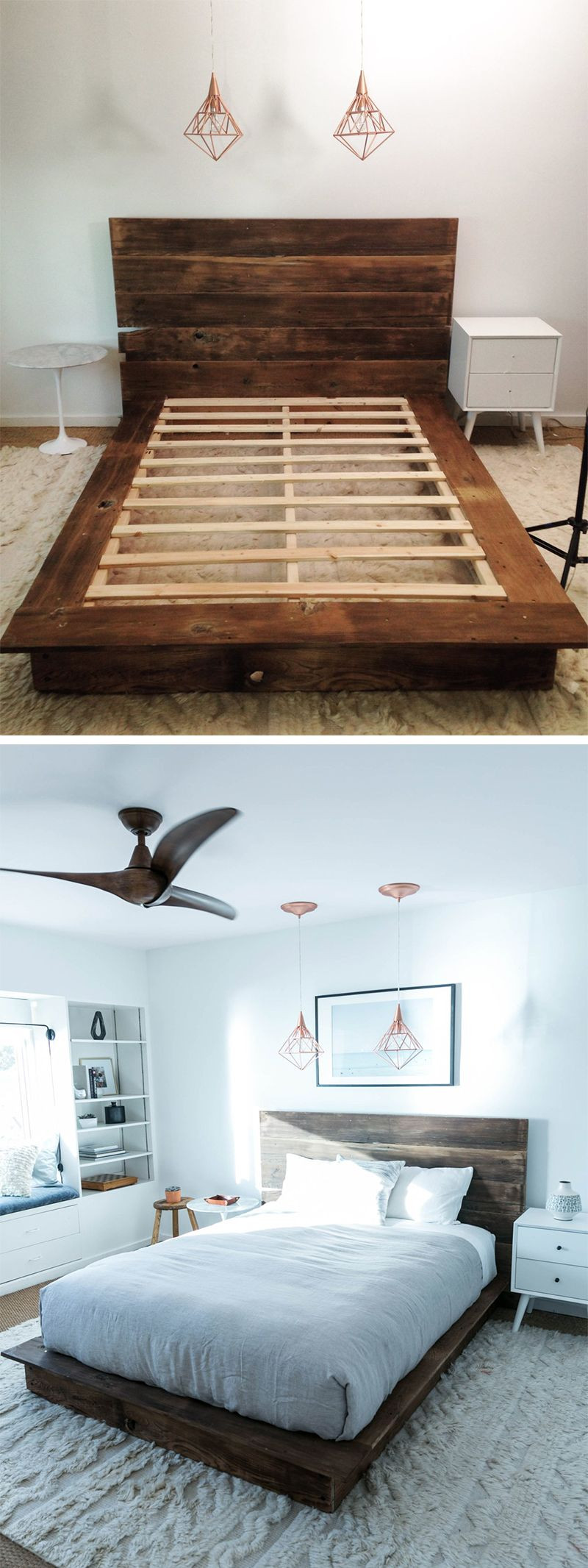Best ideas about DIY Wood Beds . Save or Pin DIY Reclaimed Wood Platform Bed Now.