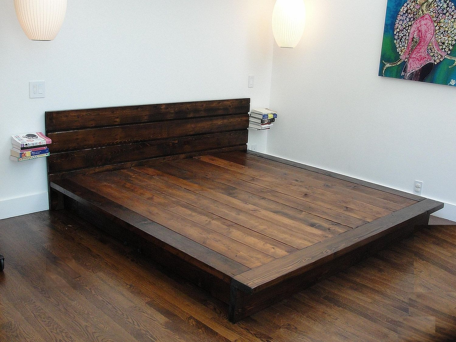 Best ideas about DIY Wood Beds . Save or Pin reclaimed wood platform bed rustic modern bed by wearemfeo Now.