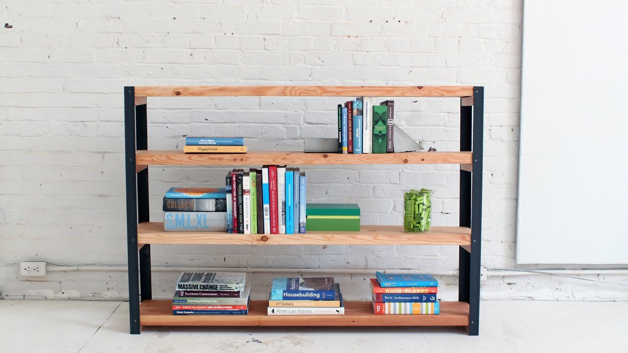 Best ideas about DIY Wood Bookshelves . Save or Pin How to make an Ironbound DIY Bookcase out of angle irons Now.