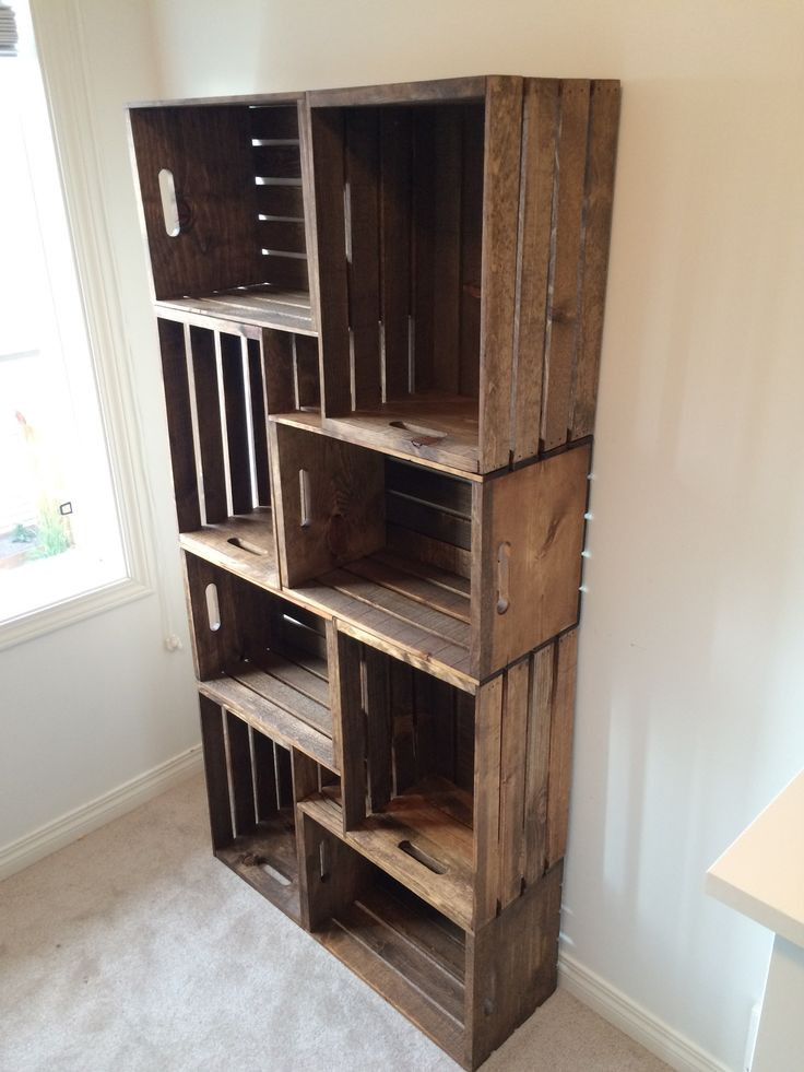 Best ideas about DIY Wood Bookshelves . Save or Pin DIY Crate Bookshelf Tutorial For the Home Now.