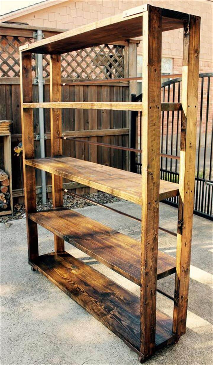 Best ideas about DIY Wood Bookshelves . Save or Pin DIY Reclaimed Pallet Bookshelf Bookcase Now.