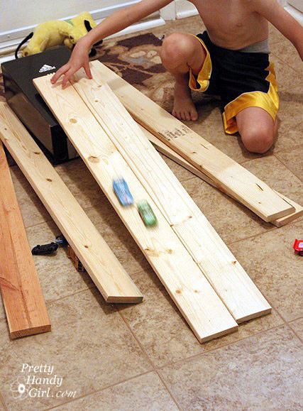Best ideas about DIY Wood Car Ramps . Save or Pin DIY Wooden Hot Wheels Car Racing Ramp Pretty Handy Girl Now.