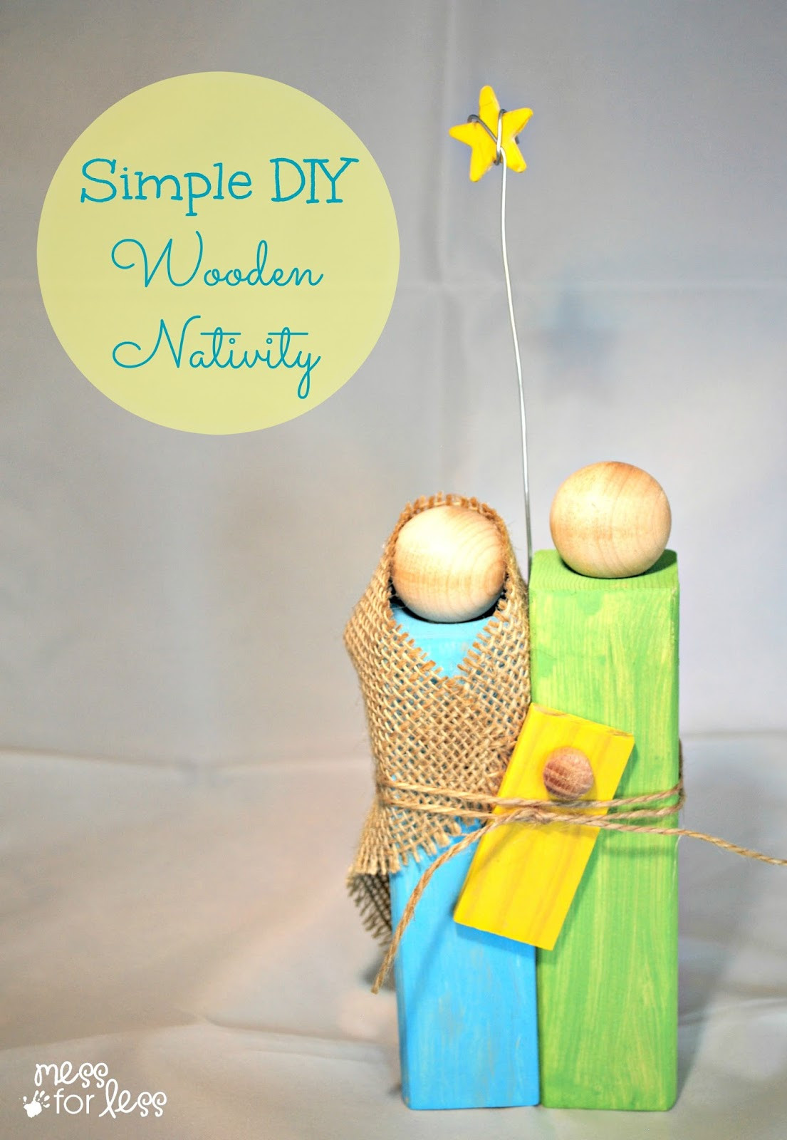 Best ideas about DIY Wood Christmas Gifts . Save or Pin Homemade Christmas Gifts Wooden Nativity Craft Mess Now.