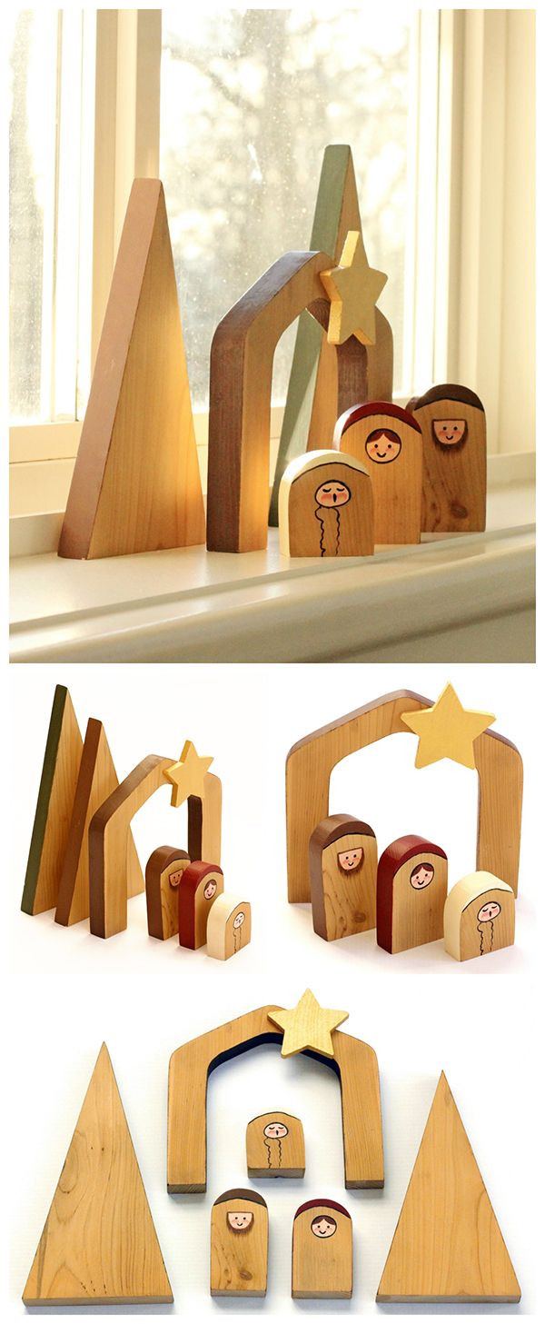 Best ideas about DIY Wood Christmas Gifts . Save or Pin Simple Wooden Nativity Scene Now.