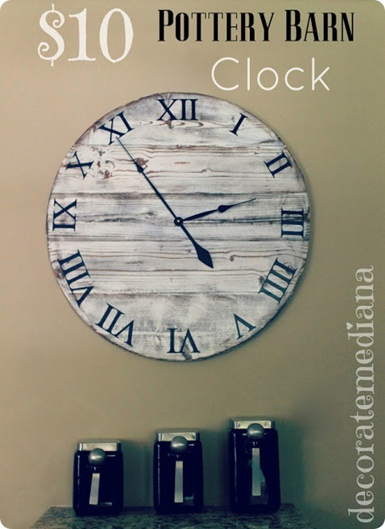 Best ideas about DIY Wood Clocks . Save or Pin $10 Pottery Barn Inspired Wood Clock Now.