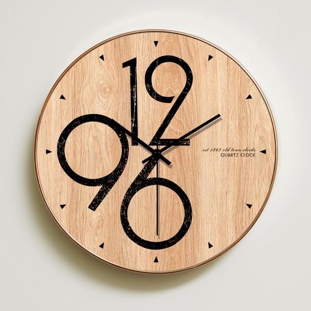 Best ideas about DIY Wood Clocks . Save or Pin Meijswxj Wall Clock Saat Relogio de parede Reloj Duvar Now.