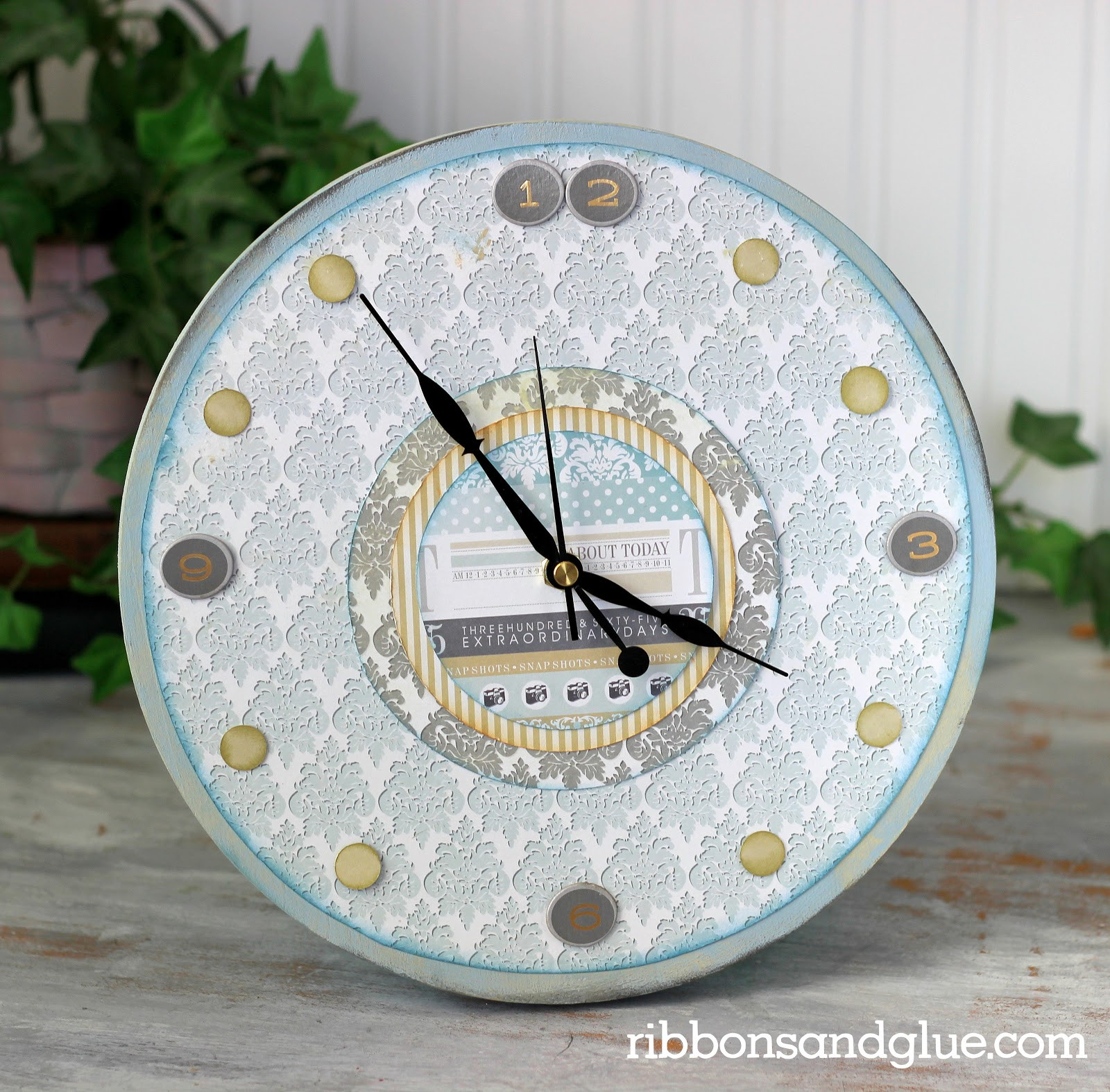 Best ideas about DIY Wood Clocks . Save or Pin Paper Issues The World is a Circle DIY Wood Clock Now.