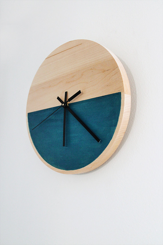 Best ideas about DIY Wood Clocks . Save or Pin diy color block clock almost makes perfect Now.