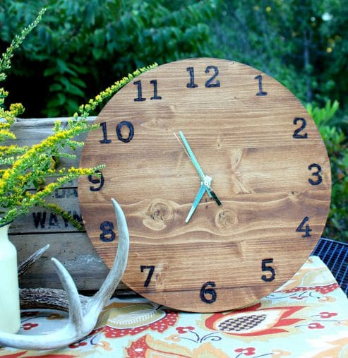 Best ideas about DIY Wood Clocks . Save or Pin DIY Wood Clock Power Tool Challenge Sweet Pea Now.