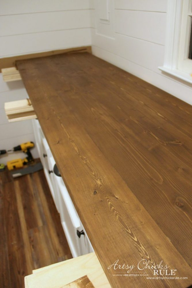 Best ideas about DIY Wood Countertops . Save or Pin How To Make A DIY Wood Countertop Artsy Chicks Rule Now.