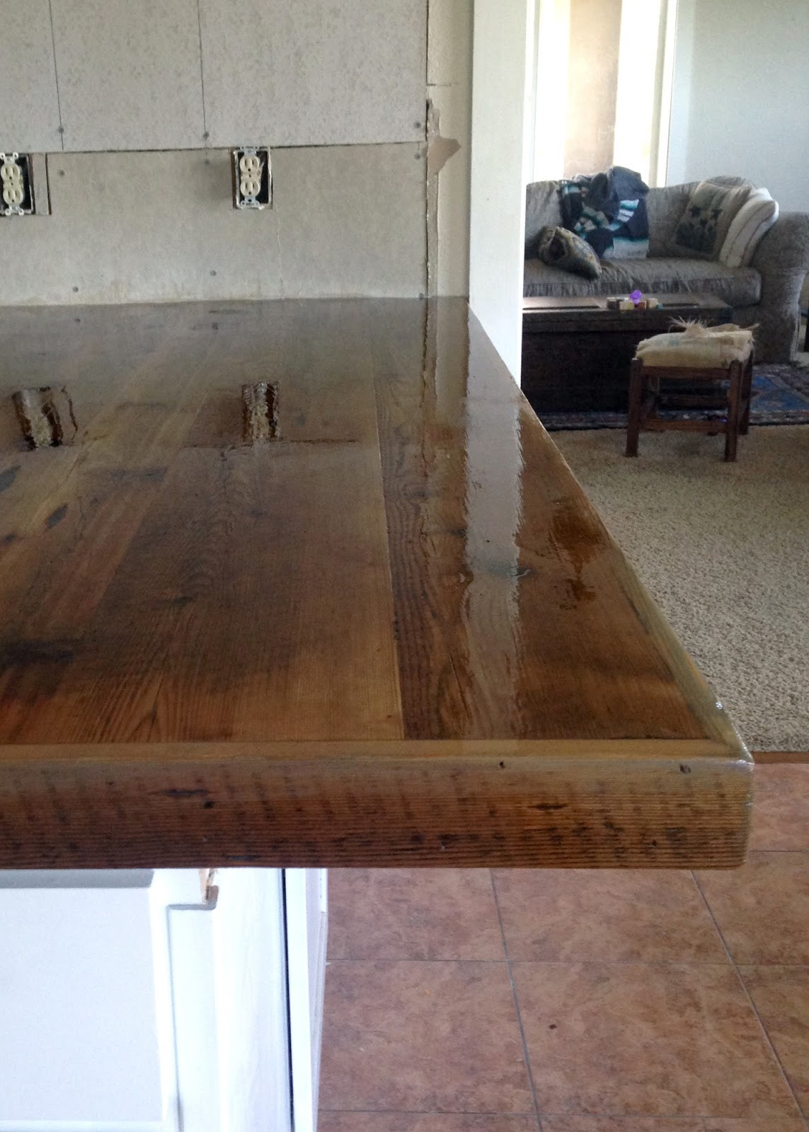 Best ideas about DIY Wood Countertops . Save or Pin DIY Reclaimed Wood Countertop Now.