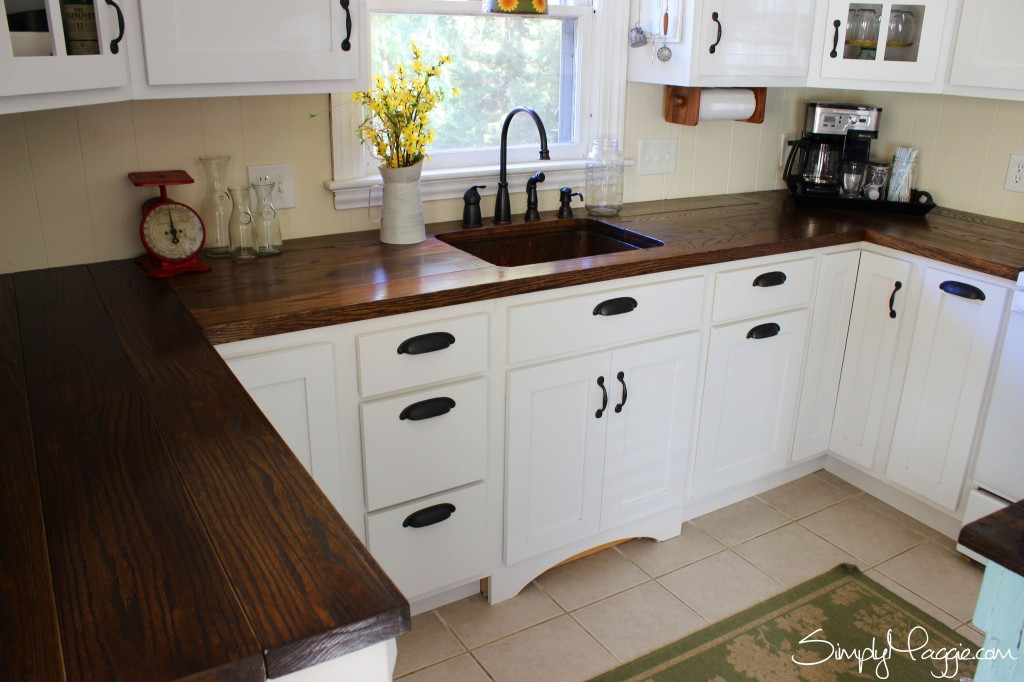 Best ideas about DIY Wood Countertops . Save or Pin DIY Wide Plank Butcher Block Counter Tops Now.
