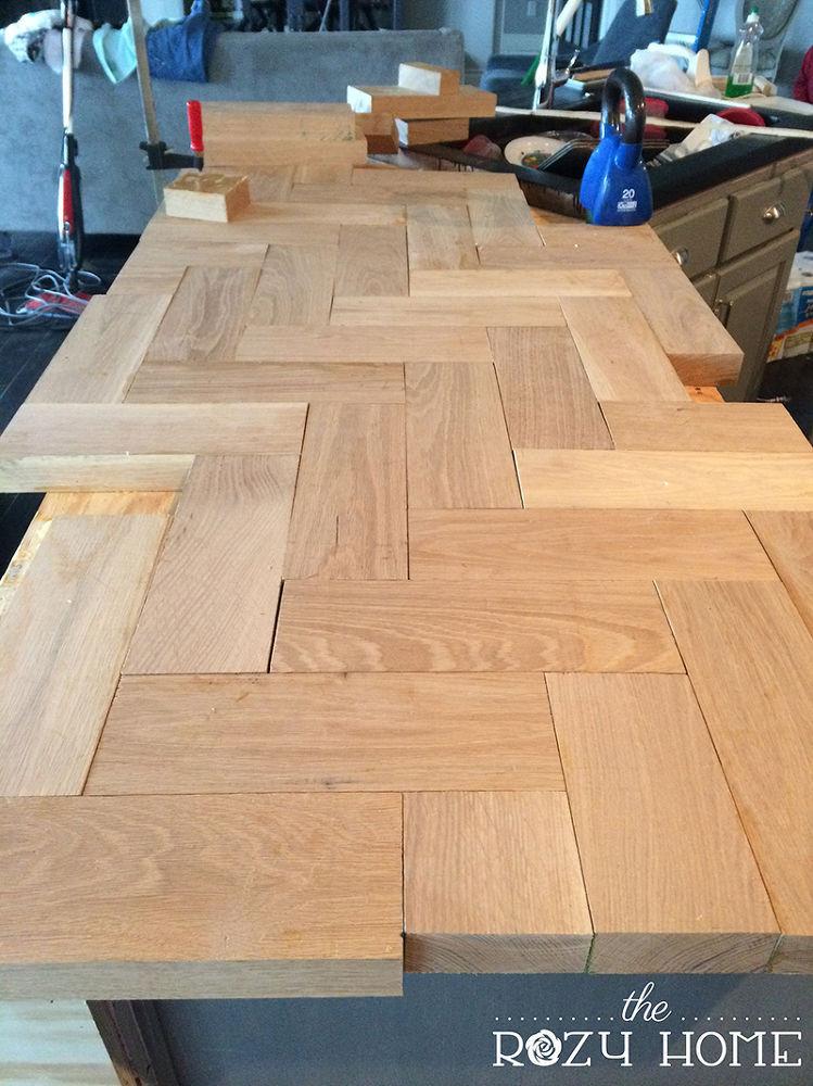 Best ideas about DIY Wood Countertops . Save or Pin DIY Wood Herringbone Counters Now.