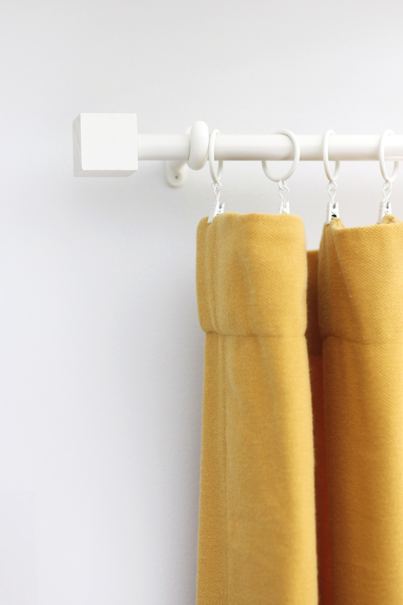 Best ideas about DIY Wood Curtain Rod . Save or Pin Bud Curtain Rod & Finial DIY A Beautiful Mess Now.