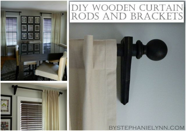 Best ideas about DIY Wood Curtain Rod . Save or Pin Make Your Own Wooden Ball Curtain Rod Set with Brackets Now.