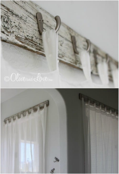 Best ideas about DIY Wood Curtain Rod . Save or Pin 16 DIY Curtain Rods And Hooks That Give You Gorgeous Style Now.