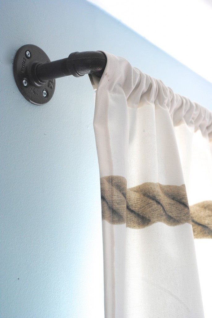 Best ideas about DIY Wood Curtain Rod . Save or Pin DIY Industrial Pipe Curtain Rods Boys Room Update Now.