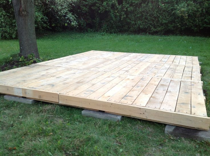 Best ideas about DIY Wood Decking . Save or Pin Deck from pallets everything was saved pallets lumber Now.