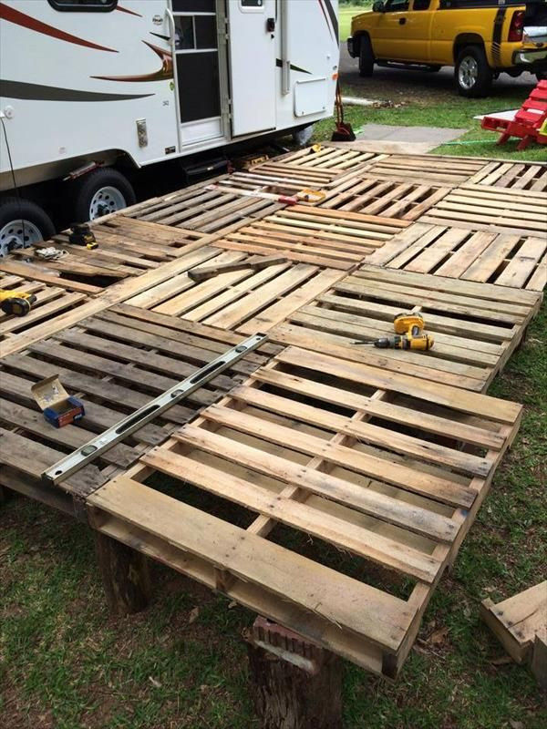Best ideas about DIY Wood Decking . Save or Pin DIY Pallet Deck Ideas and Instructions Now.