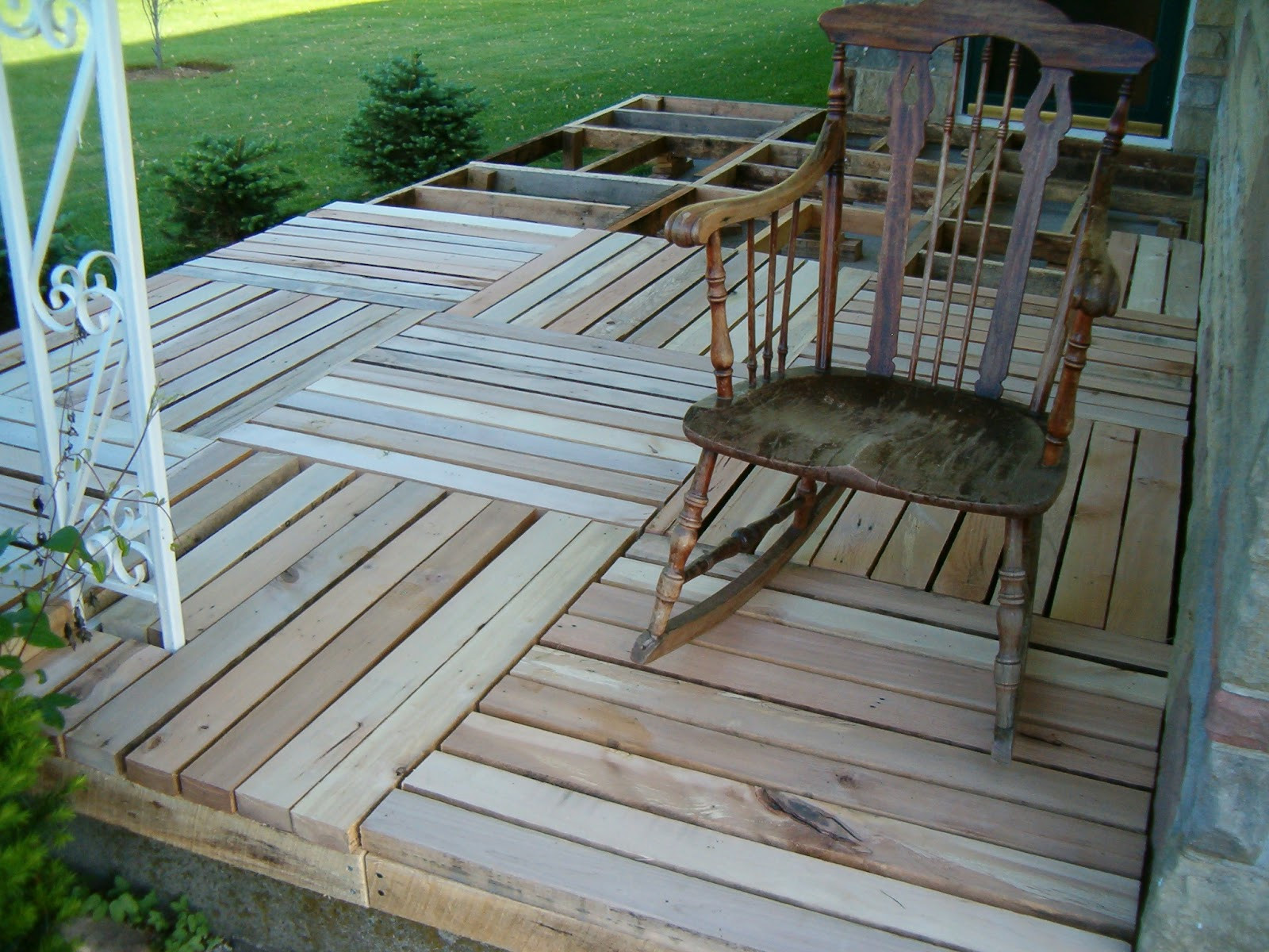 Best ideas about DIY Wood Decking . Save or Pin Redo Redux Revisiting Past Projects Pallet Wood Front Porch Now.