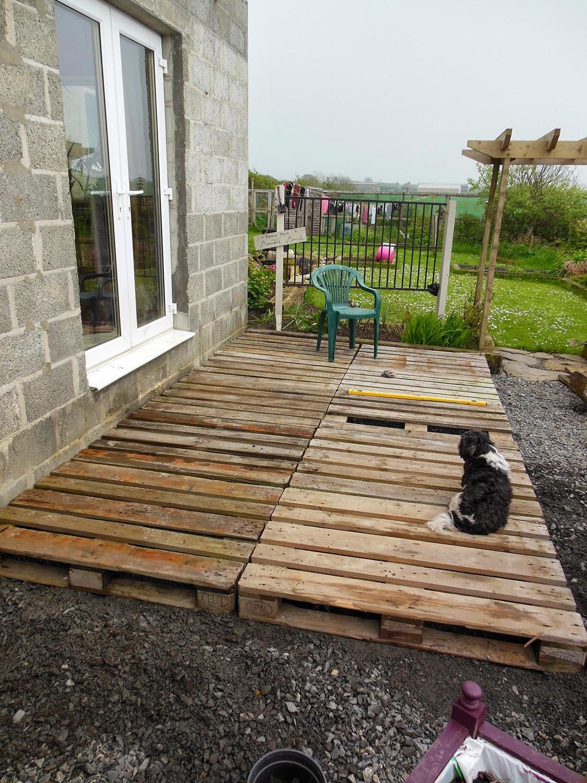 Best ideas about DIY Wood Decking . Save or Pin The Tenacious Gardener DIY pallet wood decking Now.