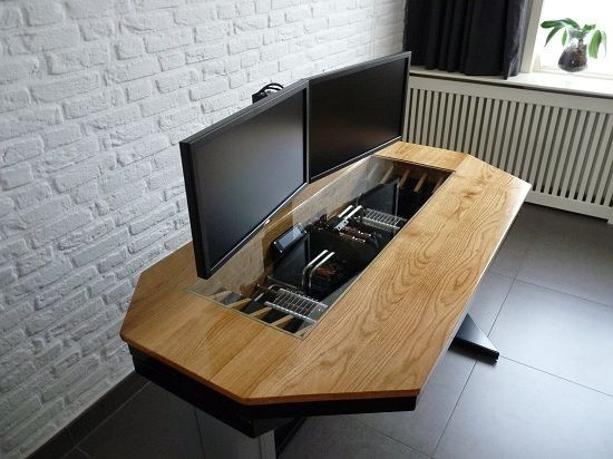 Best ideas about DIY Wood Desk Top . Save or Pin Diy puter desk caseInterior Design Ideas Desk Now.