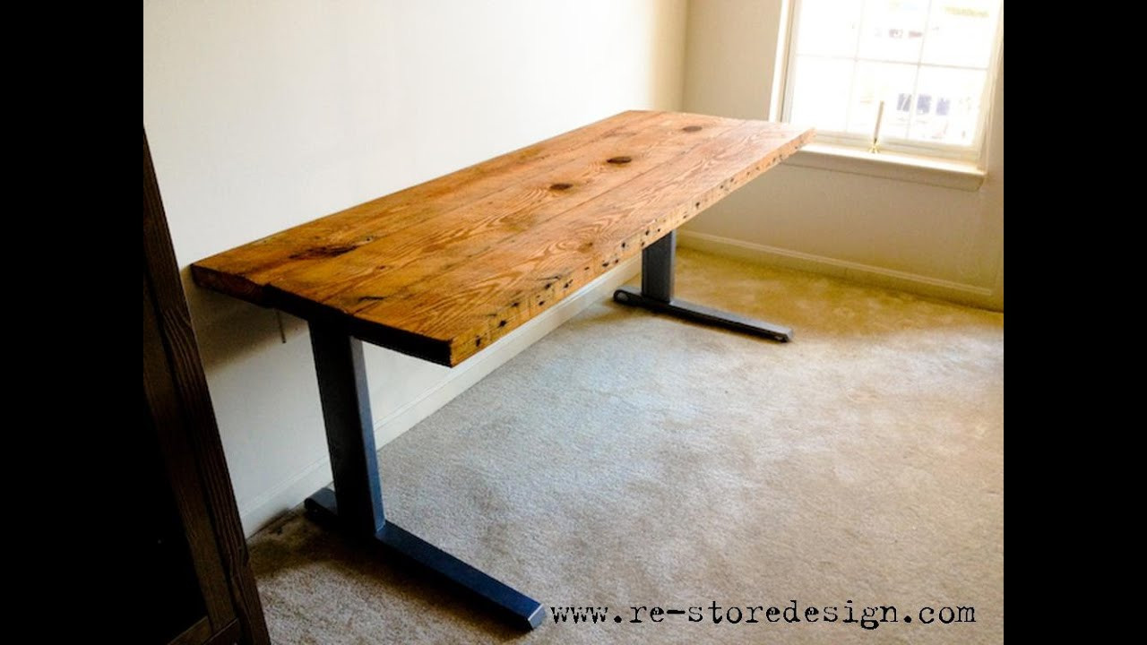 Best ideas about DIY Wood Desk Top . Save or Pin Reclaimed Wood Desk Reclaimed Wood Desk Diy Now.