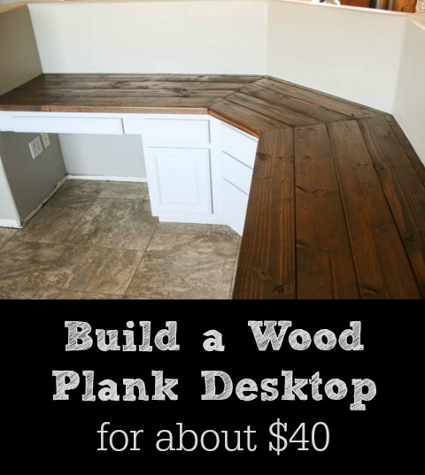 Best ideas about DIY Wood Desk Top . Save or Pin Build a Wood Plank Desktop for About $40 Now.