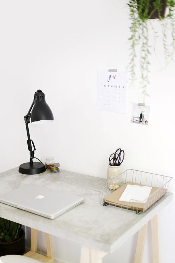 Best ideas about DIY Wood Desk Top . Save or Pin DIY Concrete Desktop with Wooden Legs Now.