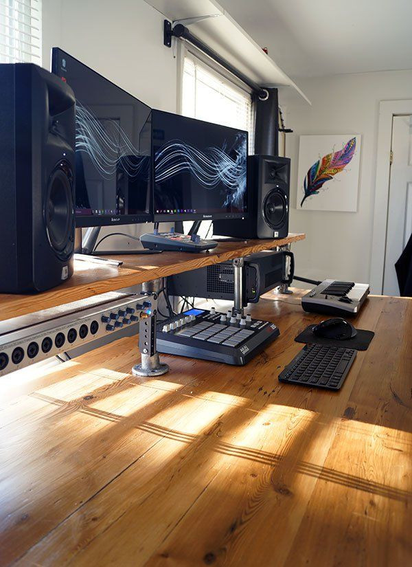Best ideas about DIY Wood Desk Top . Save or Pin Reclaimed Wood Studio Desk Great details for using Now.