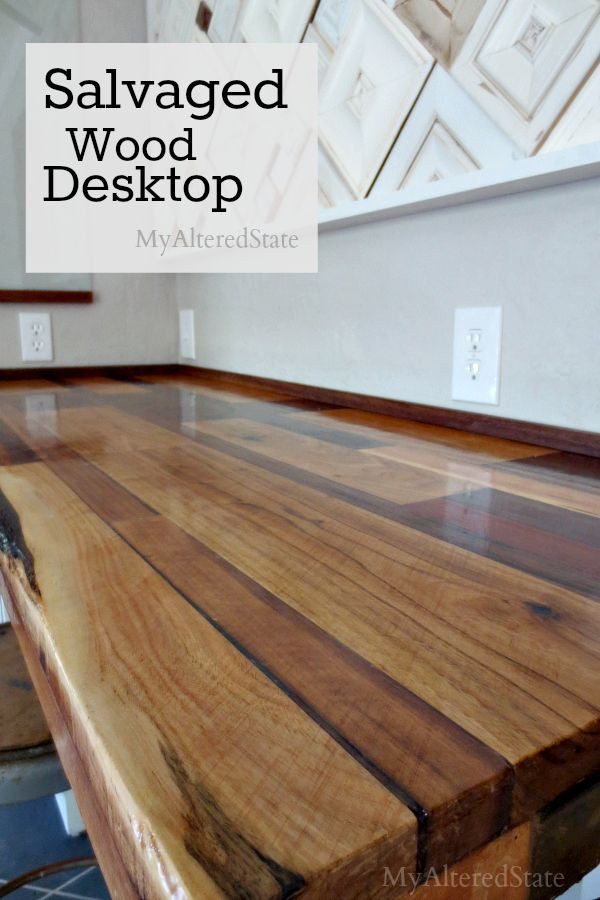 Best ideas about DIY Wood Desk Top . Save or Pin Salvaged Wood Desktop DIY Ideas Now.