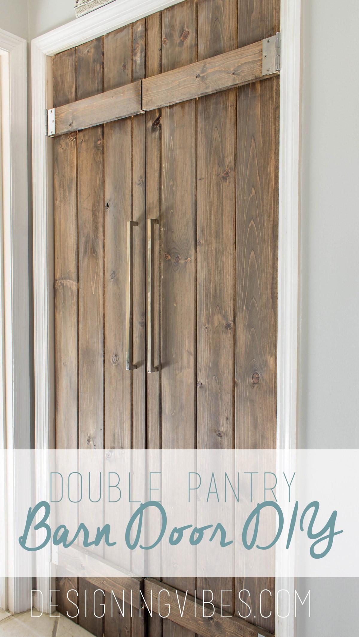 Best ideas about DIY Wood Doors . Save or Pin Double Pantry Barn Door DIY Under $90 Now.
