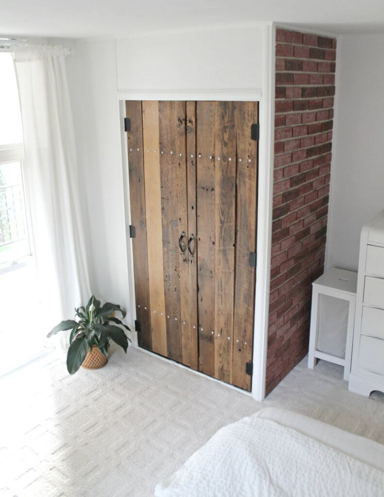 Best ideas about DIY Wood Doors . Save or Pin DIY Reclaimed Wood Closet Doors The Definery Co Now.