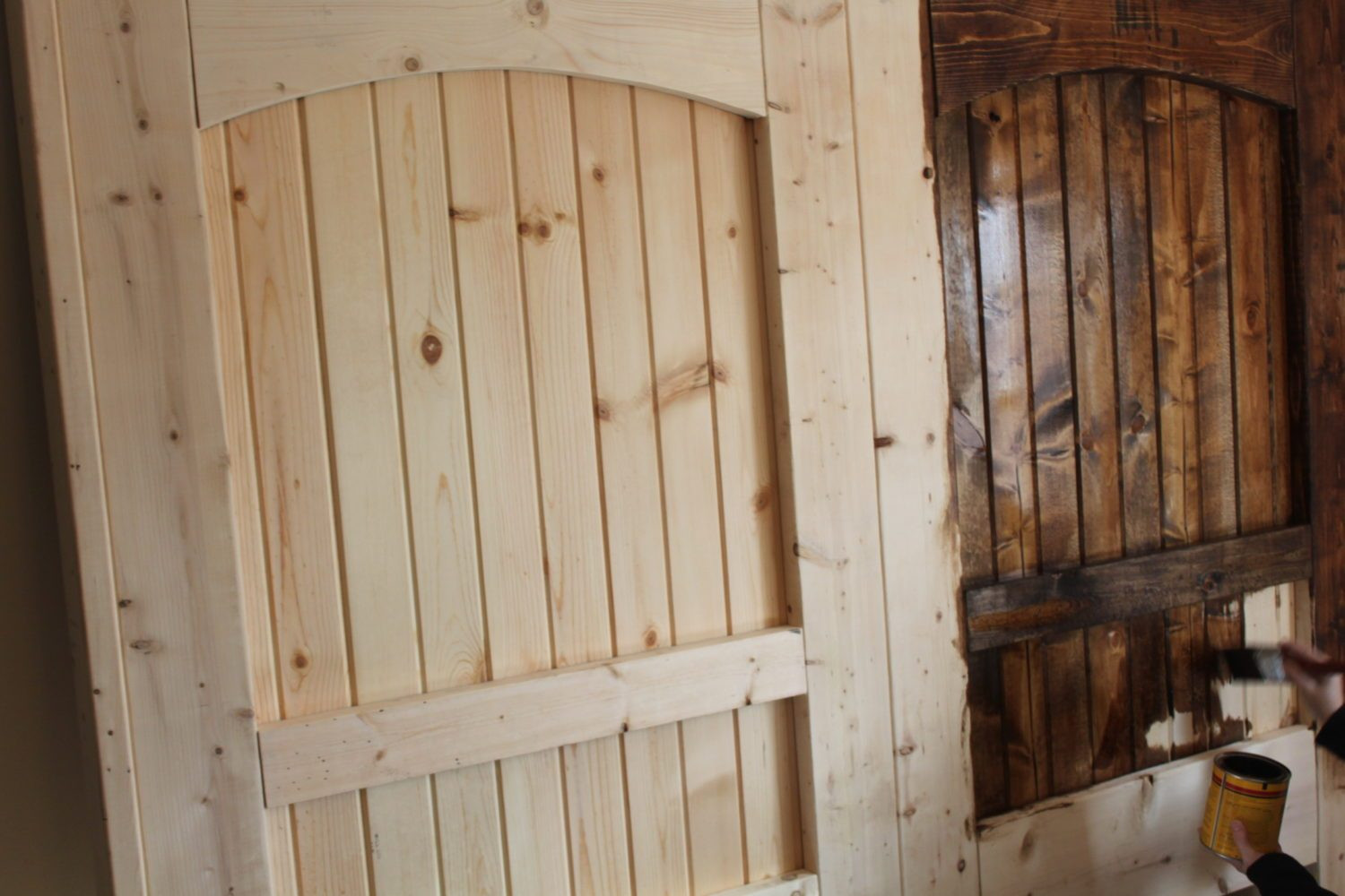 Best ideas about DIY Wood Doors . Save or Pin How To Build A Rustic Barn Door Headboard Old World Now.