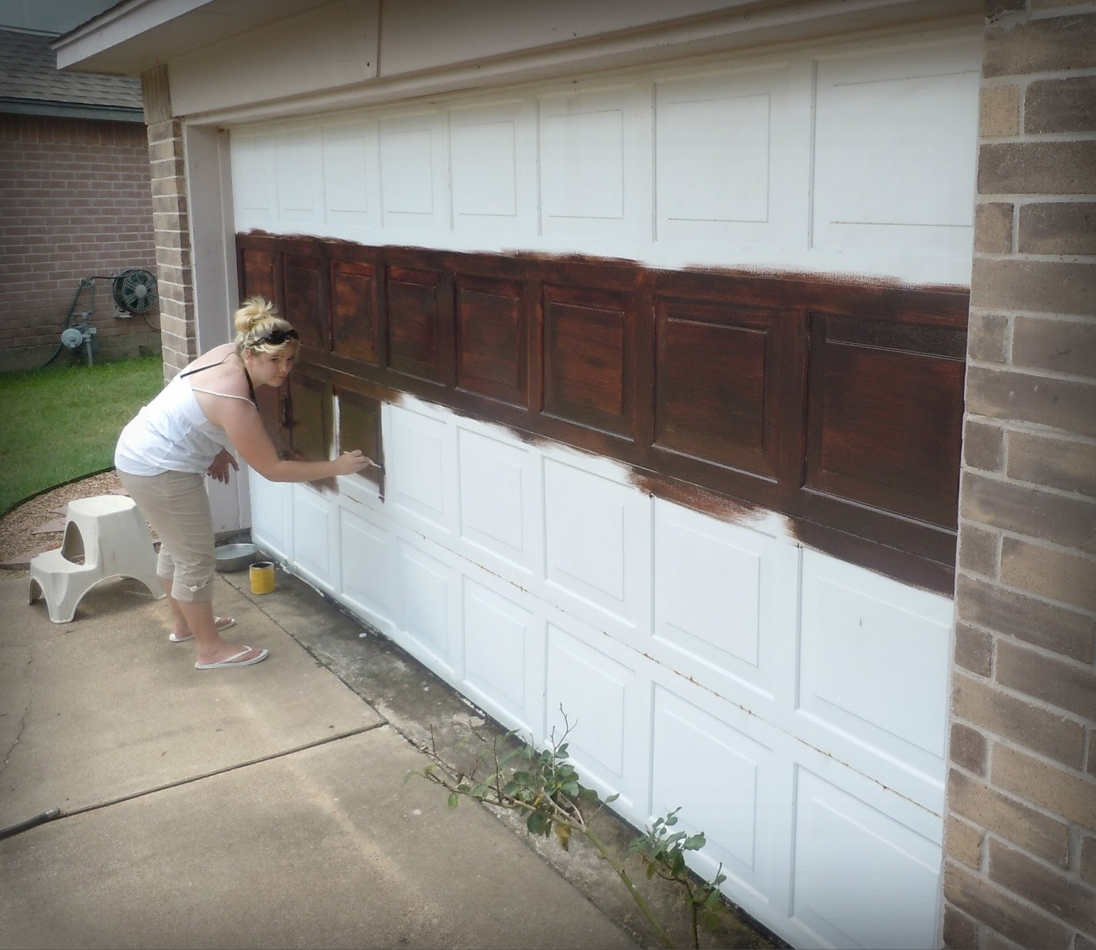 Best ideas about DIY Wood Garage Doors . Save or Pin Made To Love diy Faux Wooden Garage Door Now.