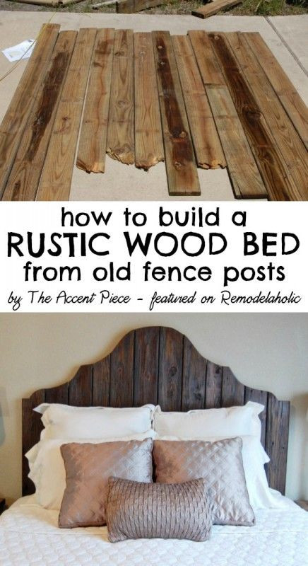 Best ideas about DIY Wood Headboard Plans . Save or Pin 30 Rustic Wood Headboard DIY Ideas Hative Now.