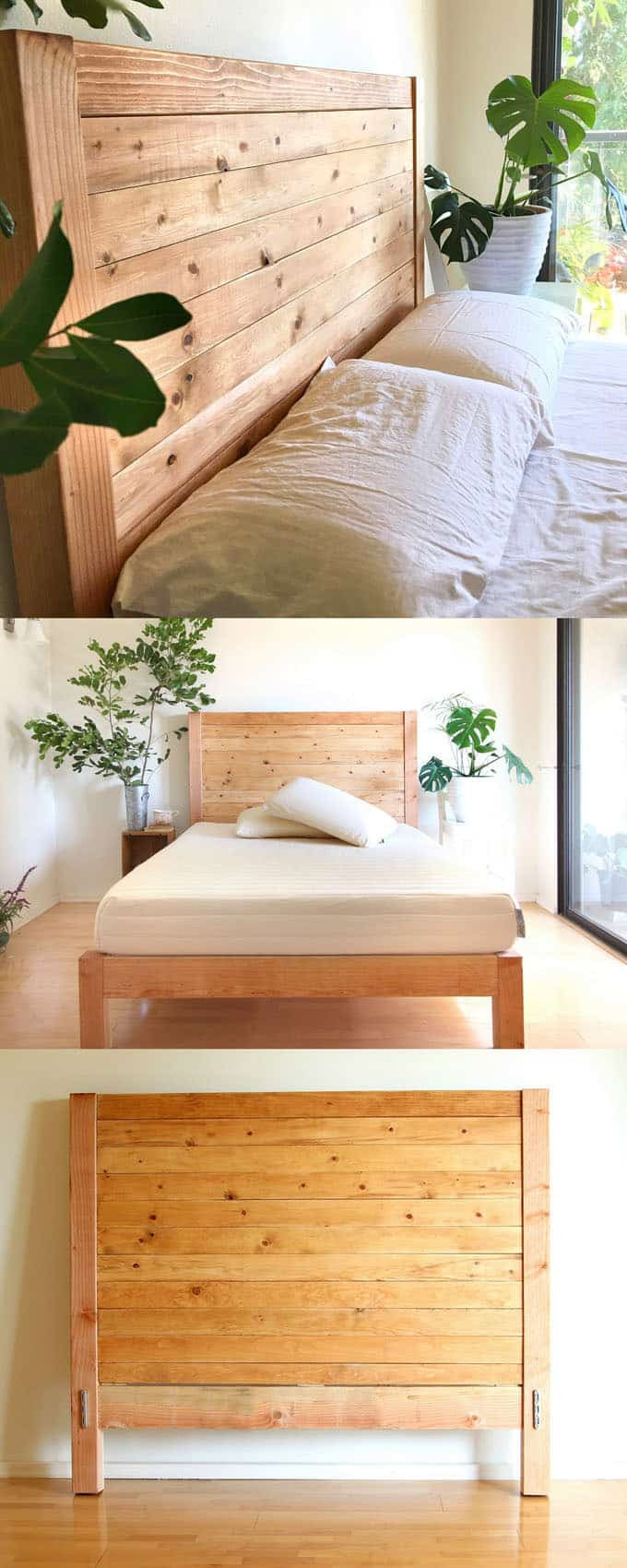 Best ideas about DIY Wood Headboard Plans . Save or Pin Easy and Beautiful Wood DIY Headboard A Piece Rainbow Now.