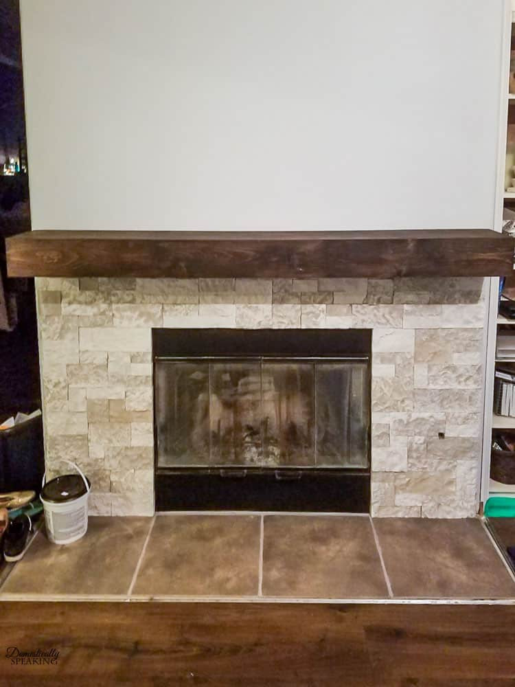 Best ideas about DIY Wood Mantel . Save or Pin Build Your Own Rustic Fireplace Mantel Domestically Speaking Now.