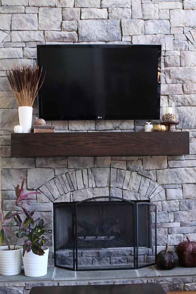 Best ideas about DIY Wood Mantel . Save or Pin How To Make A Wood Mantel Shelf For A Stone Fireplace Now.