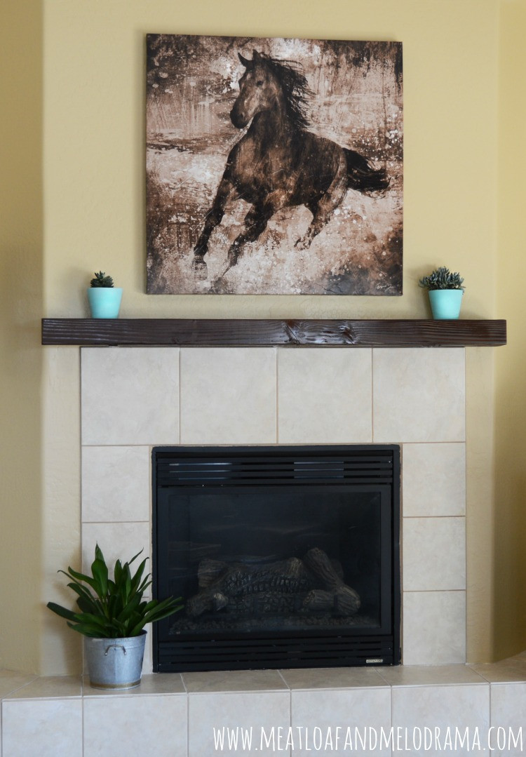 Best ideas about DIY Wood Mantel . Save or Pin DIY Wood Beam Mantel Meatloaf and Melodrama Now.