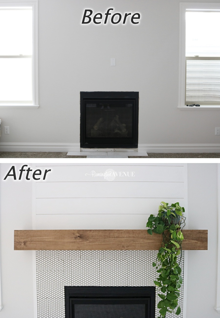 Best ideas about DIY Wood Mantel . Save or Pin Easy DIY wood mantel Remington Avenue Now.