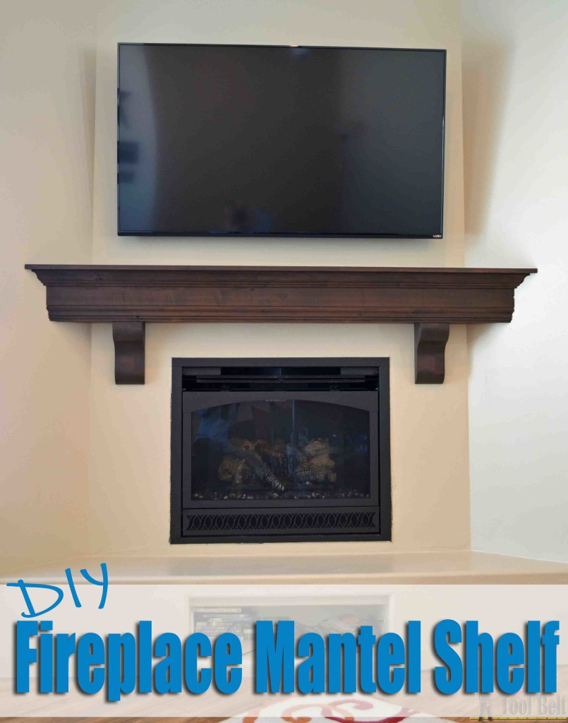 Best ideas about DIY Wood Mantel . Save or Pin DIY Fireplace Mantel Shelf Her Tool Belt Now.