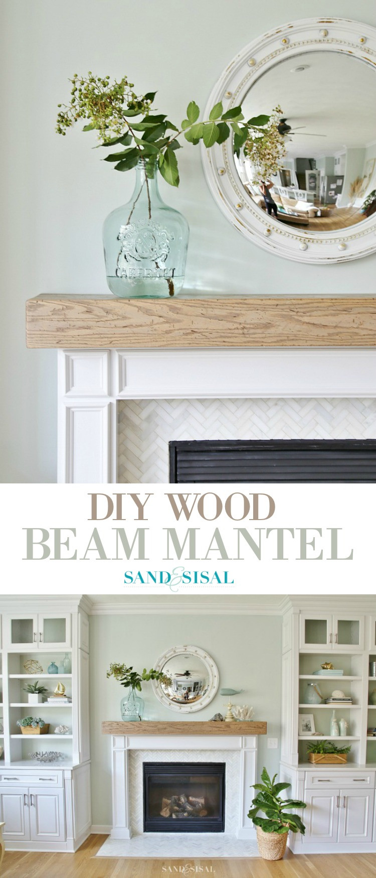 Best ideas about DIY Wood Mantel . Save or Pin DIY Wood Beam Mantel Now.