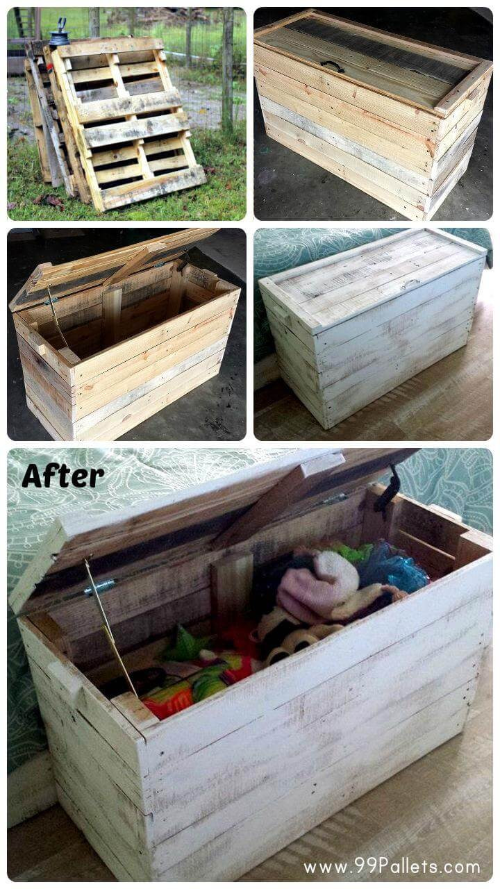 Best ideas about DIY Wood Pallets . Save or Pin DIY Wooden Pallet Chest for Bedroom Now.