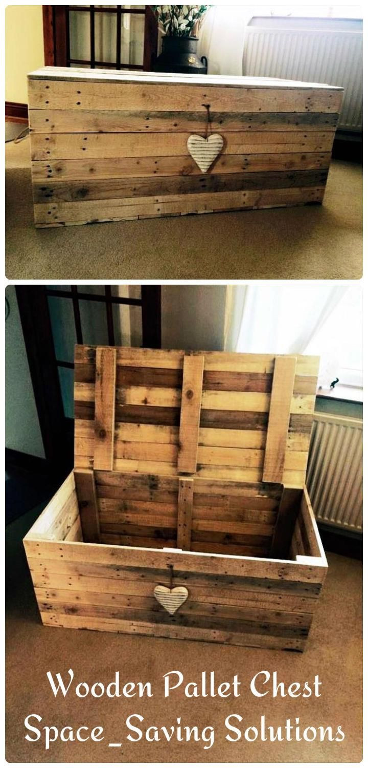 Best ideas about DIY Wood Pallets . Save or Pin Wooden Pallet Chest – Space Saving Solutions Now.